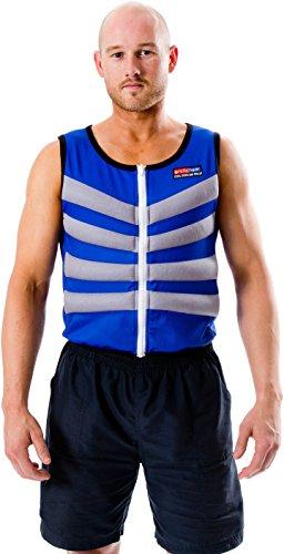 Chaleco Refrescante Refrigerante para Esclerosis Múltiple - Alivia los Síntomas de la Enfermedad - El Fenómeno de Uhthoff (XS (85-89 cm pecho/cintura), Azul)