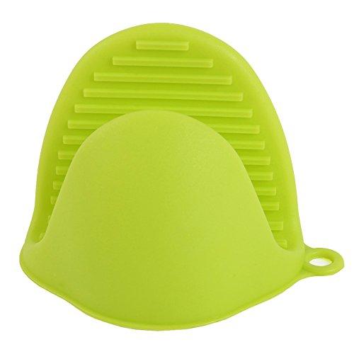 PPuujia 1 guantes de horno anti escaldamiento antideslizante guantes hogar tazón cocina hornear gel sílice aislamiento térmico horno microondas (color: 02)