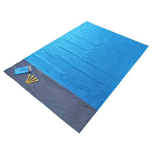 MaiKeEr Stranddecke, 210,1 x 200,9 cm, Taschen-Picknickdecke, groß, sanddicht, wasserdicht, kompakt, Strandmatte, Outdoor-Picknick-Matte mit Aufbewahrungstasche und Anker