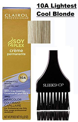 Clairol Soy4Plex Premium PERMANENT CREAM HAIR COLOR (w/Sleek Tint Brush) 100% Gray Coverage...