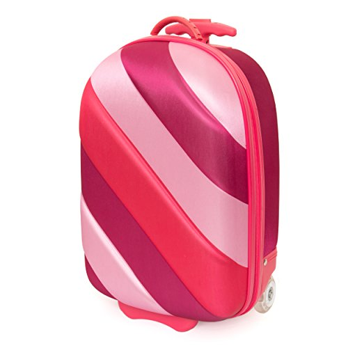 Kids Travel 2 Rainbow Suitcase Children's Luggage, 39 cm, 15.0 litres, Cabin Bag - Multicolour (Pink Bubble)