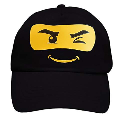 TST T-Shirt Total GmbH Kinder Basecap Ninja Mütze schwarz-gelb Einheitsgröße Cap Schulanfang