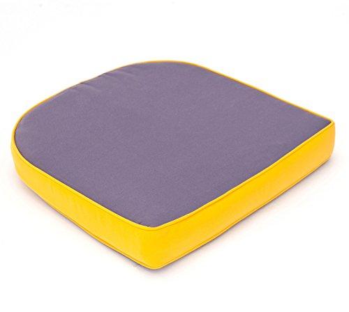 VTB Hambiente Stuhlkissen für Geflechtsessel Hülle mit Reißverschluss abziehbar Waschbar Farbe Pflaume