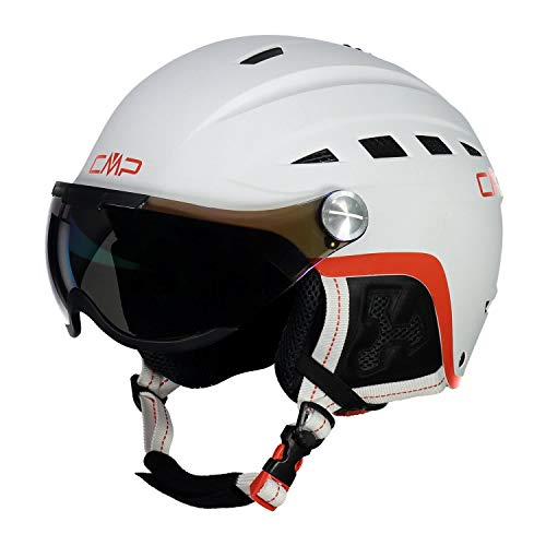 CMP WA-2 Ski Helmet with Visor, Casco da Sci Unisex Adulto, Bianco, XL
