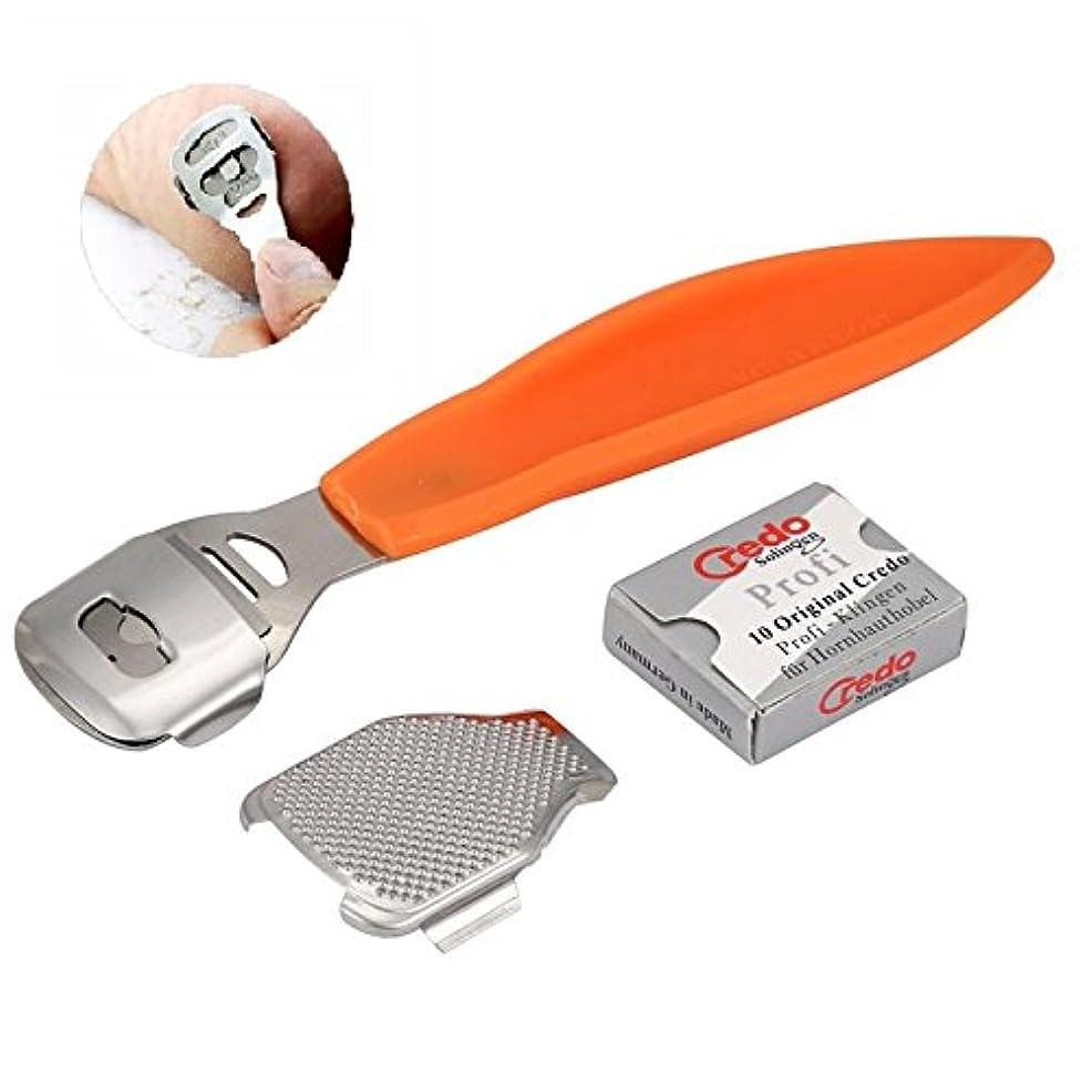 大脳サスペンドメカニックFoot File Set Callus Cuticle Remover Hard Dead Skin Shaver Scraper Foot File Blades Pedicure Tools Set Feet Care + 10 x Blades