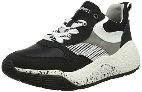 ESPRIT Damen Sasha LU Sneaker, Schwarz (Black 001), 38 EU
