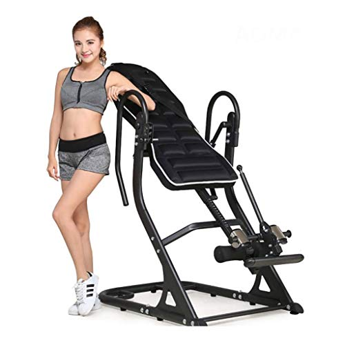 Great Price! ZDMSEJ Inverted Machine, Upside Down Home Fitness Equipment Gravity Folding Inversion T...