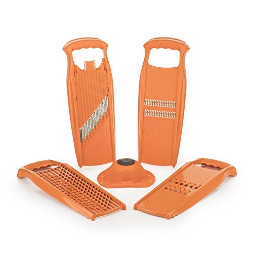 Börner Reiben-Set Powerline orange - Reibe für Rösti, Wellenpommes und Rohkost