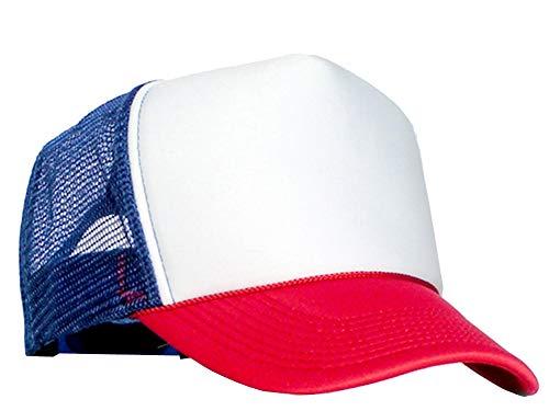 Bastart Caps Casquette avec maille filet à l'arrière, rouge/blanc/bleu