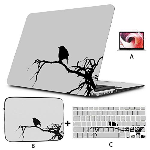 Laptop Cover Bird Sparrow Icon Sketch Cartoon Wallpaper Macbook Air Computer Case Hard Shell Mac Air 11'/13' Pro 13'/15'/16' With Notebook Sleeve Bag For Macbook 2008-2020 Version