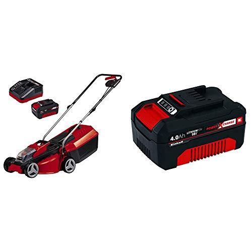 Einhell GE-CM 18/30 Li-Cortacésped inalámbrico Power X-Change, 30-70mm, ancho de corte 30 cm, 35L + 4511396 Power X-Change - Batería de repuesto, 18 V, 4.0 Ah, duración de carga de 60 minutos
