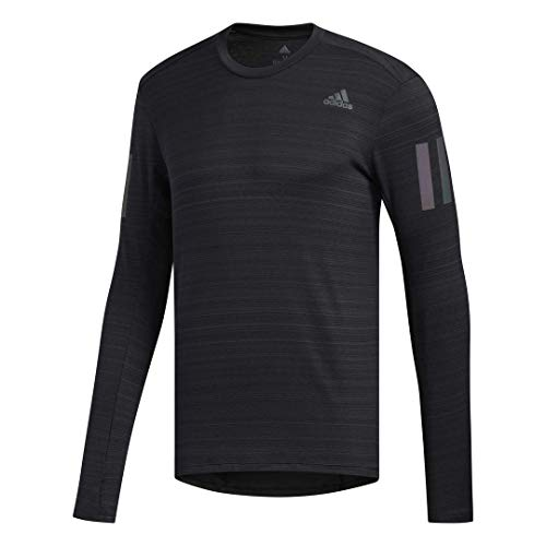 adidas Runr Camiseta de manga larga, color negro, mediano