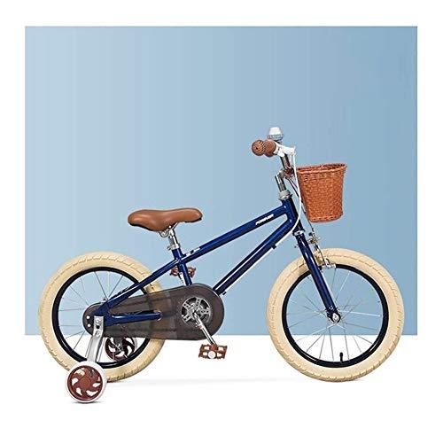 DXYSS Bicicleta para Niños y Niñas Marco de niños Acero de la Bici de la Bicicleta Infantil pequeña Princesa Style de 16 Pulgadas con la Rueda de formación (16 Pulgadas) Color: Beige