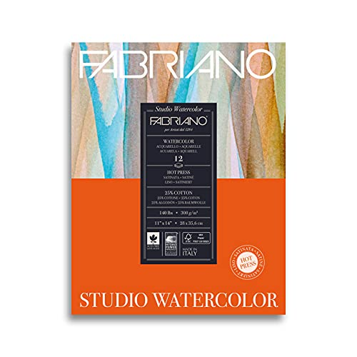 Savoir Faire Studio Hot Press Watercolor Pad, 11 x 14, White