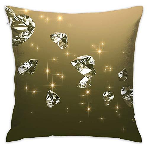 Butlerame Fodera per Cuscino a Forma di Cuore Diamanti Divano Letto Federa per Cuscino Cuscino per Dormire Morbido Cuscino 18 'x 18'