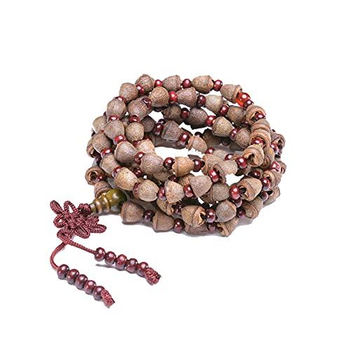 Pulsera Bodhi 108 Collar budista tibetano Fragancia natural Mala Pulsera de oración curativa para hombres y mujeres