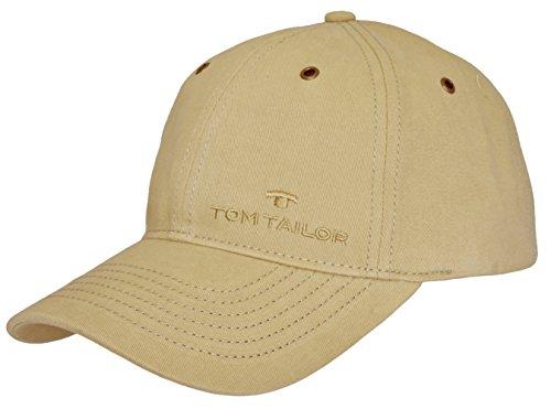 Tom Tailor Herren Basecap Mütze 6-Panel-Cap Base Cap Kappe uni one size (Beige (120))