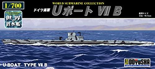 童友社 1/700 世界の潜水艦シリーズ No.8 ドイツ海軍 Uボート VIIB プラモデル WSC-8