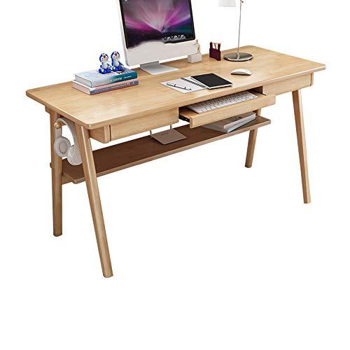 Escritorio de Oficina Moderno Simple, Escritorio de Madera Maciza para portátil, Escritorio casero del Estudio del Escritorio del Escritorio, Mobiliario de Oficina para Oficina en casa