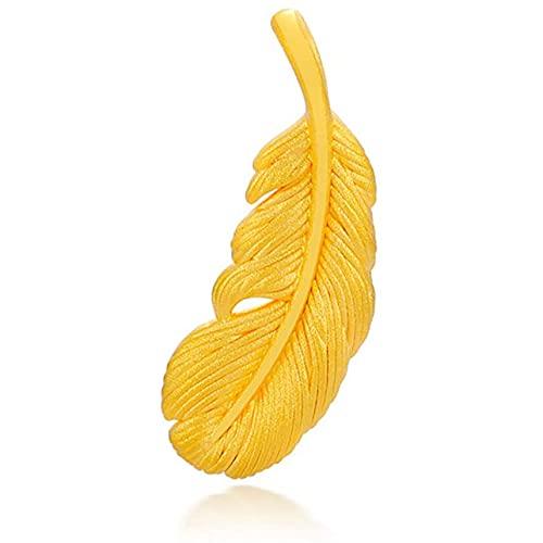 Alas De Angel Oro Amarillo Puro De 24 Quilates Colgante para Mujeres Joyería Fina con Caja De Regalo (Color : Pendant, Tamaño : 18K Gold Chian)