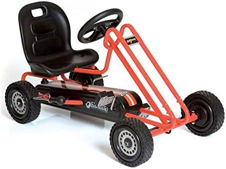 Hauck Lightning - Pedal Go Kart | Pedal Car | Ride On Toys for Boys & Girls with Ergonomic Adjustable Seat & Sharp Ha...