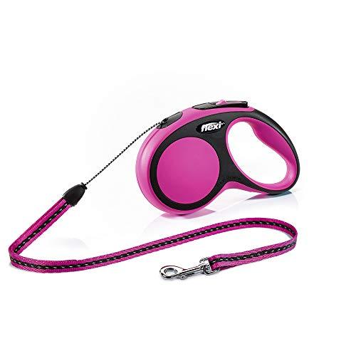 flexi New Comfort S Seil 8 m pink für Hunde bis 12 kg