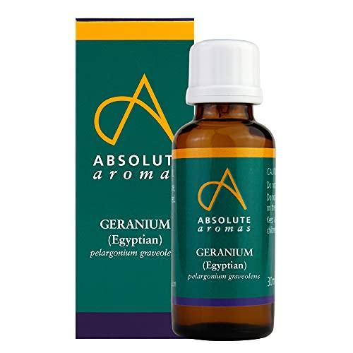 Absolute Aromas Geranio Aceite Esencial Egipcio 30ml - 100% Puro, Natural, Sin diluir, Vegano y Sin Crueldad (30ml)