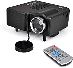 Full HD 1080p Mini Portable Pocket Video & Cinema Home Theater Projector? LCD+LED Lamp, Digital Multimedia, HDMI, USB & VGA Inputs for TV PC Game Business Computer & Laptop?Black?,Jaydear