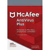 Descarga Digital McAfee Protection 2020 - Suscripción de 12 Meses para Todos Windows 7/8/10 para Clientes nuevos y existentes Nada publicado, ignorar el envío MCAFEE ANTIVIRUS 1 Device - Via Email