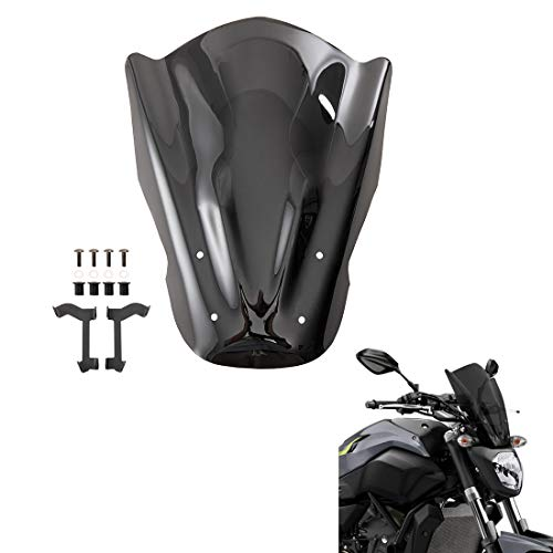 Parabrisas de motocicleta parabrisas a prueba de viento para MT 07 2014 2015 2016 2017 FZ-07 FZ07 FZ 07 deflectores de viento