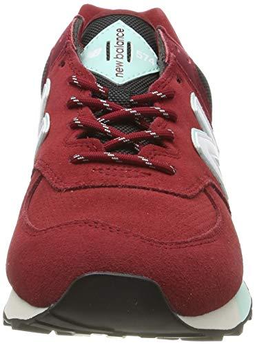 New Balance Iconic 574 V2, Zapatillas de Atletismo Hombre, Rojo, 39 EU