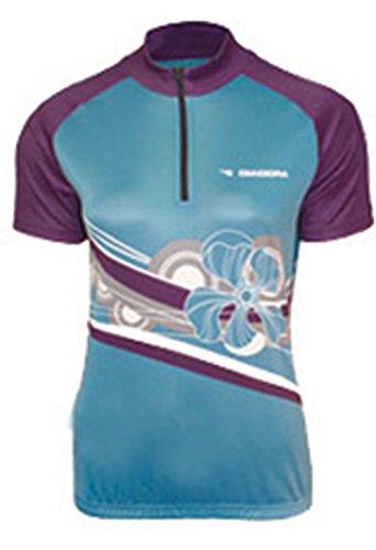 Diadora Dana - Camiseta de Ciclismo para Mujer, Color Azul Claro - Azul - X-Large