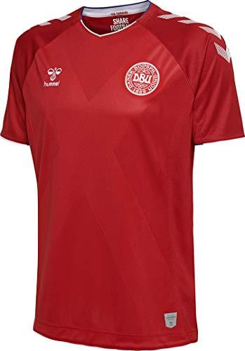 Hummel Herren Kinder Dänemark Heimtrikot Dänemark Heimtrikot WM 2018, rot/weiß, S, 202576-3365