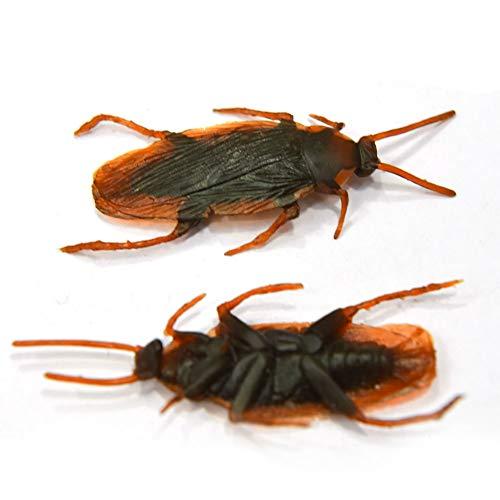 Newin Star 10 Stück Gefälschte Kakerlake Neuheit Kakerlaken Bugs Realistische Blick Insekten für Halloween FoolsDay Trick Party Spiel Spielzeug