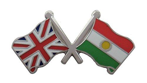1000 drapeaux du Kurdistan et drapeau du Royaume-Uni