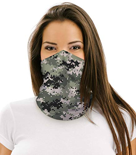 NuffSaid 12 in 1 Multifunctional Headwear Face Mask Neck Gaiter Camo Collection (Forest Digital Camo)