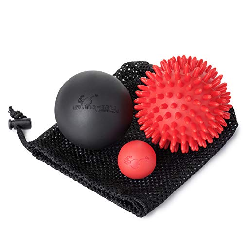 Bomb-ball Spiky Massage Ball Set by Ultimate Relief, Igleball + Lacrosse bälle für Ultimative Muskel Entspannung, selbstmassage, Faszientraining + Triggerpunkt Therapie