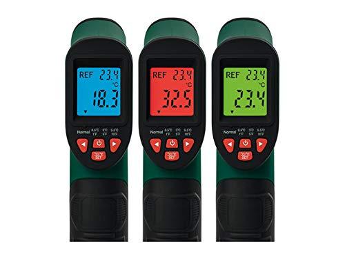 Termómetro infrarrojo Parkside PTIA 1 Rango de medición: -50 a + 380ºC Para una medición rápida de la temperatura de la superficie Señal de medición infrarroja precisa