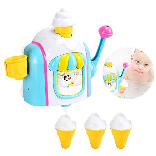 Mankoo Schaumeismaschine, Schaum Baby Badespielzeug Wasserspielzeug für die Badewanne in Farbenfrohem Design, Badespaß für Kinder, Geschicklichkeitsspiel, Spiele für Kleinkinder