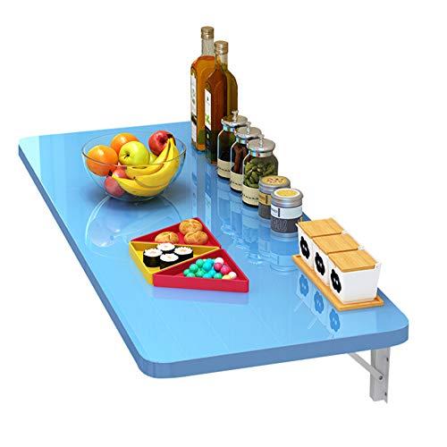 FMSBSC Wandklapptisch,Holz Wandtisch Klappbar Küchetisch Beistelltisch Laptoptisch Esstisch Ecktisch Schreibtisch Mehrzwecktisch, Blauer Wandtisch,100 * 40cm/39 * 16in