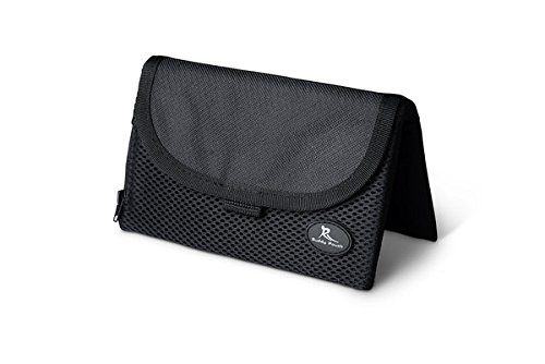 Running Buddy Magnetic Buddy Pouch: Magnet Pocket Pouches for Cell Phones, iPhone & Other Gear - Beltless Running Pouch Waist Bag for Running, Traveling, Hiking & Cycling:Black, XL (6 3/4' x 4')