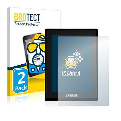 BROTECT 2X Entspiegelungs-Schutzfolie kompatibel mit Yamaha LCD Display (E-Bike Display) Displayschutz-Folie Matt, Anti-Reflex, Anti-Fingerprint