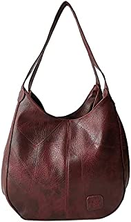 MOMIYS Shoulder Purses and Handbags Shoulder Strap for Women Leather Hobo Tote Fashion Ladies Large Capacity Bucket Should...