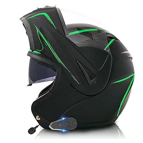 Casco para Moto Integral Mujeres Hombres Casco de Scooter con Visera Doble Visor Solar,Adultos Modular Integral Casco Moto Set para Ciclomotor Motocicleta y Scooter ECE Homologado