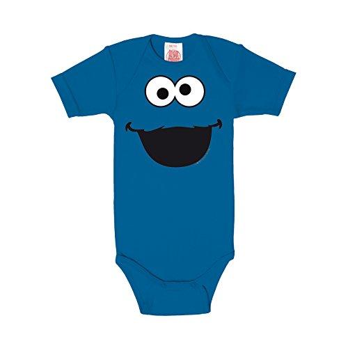 Barrio Sésamo - body de bebé del Monstruo de las Galletas, estampado retro de la serie de culto, con la licencia oficial, tejido de gran calidad, azul - 62/68