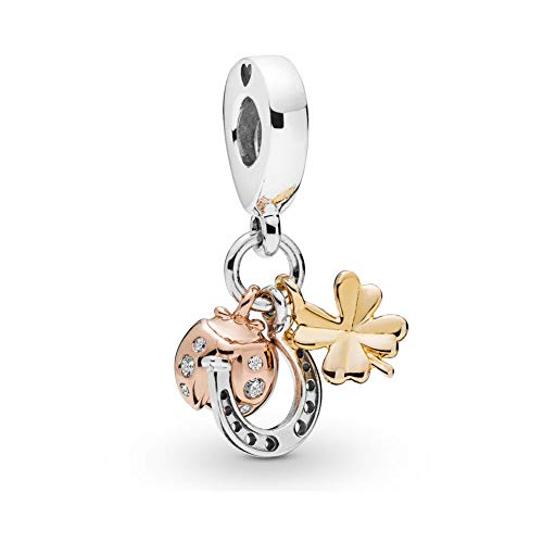 Price comparison product image SUNWIDE Clover and Ladybug Butterfly Charms fit Pandora Charms (Ladybug 1)