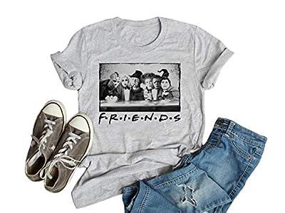 Horror Friends Sanderson Sisters Squad Hocus Pocus Shirt Womens Funny Halloween Tshirt Fall Tee Tops (XL, Grey5)