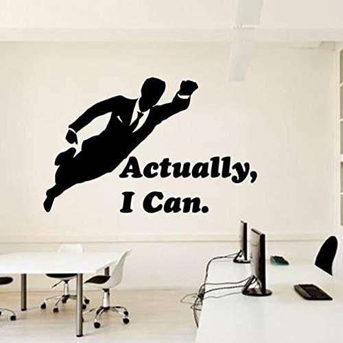 Calcomanías de pared de oficina en realidad puedo hacer que Superman se inspire en pegatinas de pared de vinilo para decoración de oficina en el equipo de trabajo