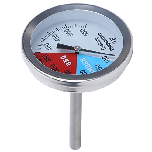 Termómetro de alimentos de acero inoxidable para barbacoa de barbacoa Termómetro de cocina Temperatura de 100 a 900 °F para bebidas calientes de carne parrilla barbacoa