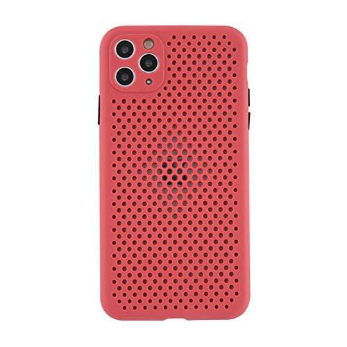 AAA&LIU Estuche para teléfono con disipación de Calor y enfriamiento Transpirable para iPhone 11 Pro MAX X XS XR XS MAX 7 8 Plus Funda de Color sólido de TPU Suave, Rojo Vino, para iPhone 8